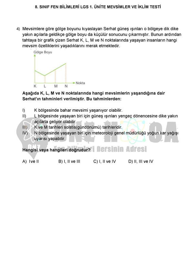 MEVSİMLERİN OLUŞUMU testi dnzhoca.com 2 660 933