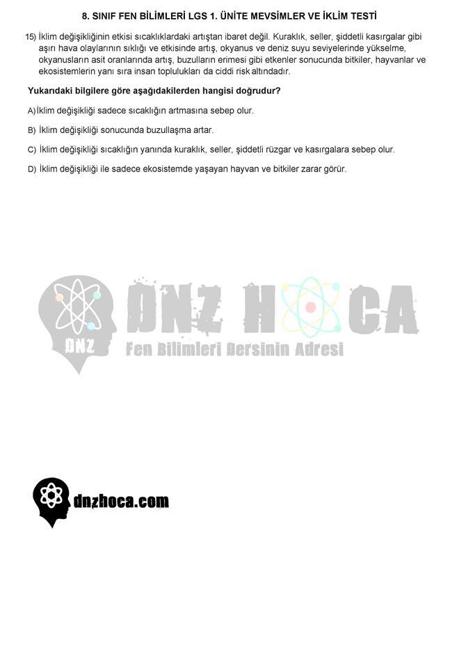 MEVSİMLERİN OLUŞUMU testi dnzhoca.com 5 660 933