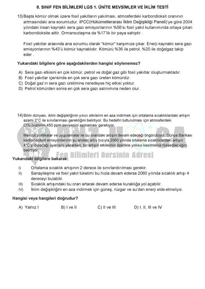 MEVSİMLERİN OLUŞUMU testi dnzhoca.com 6 660 933