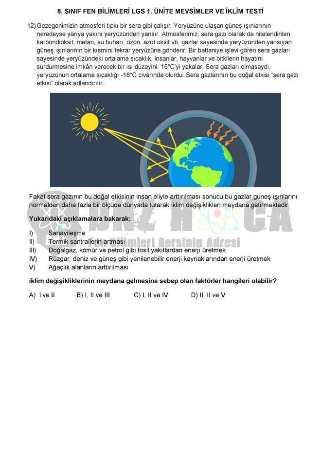 MEVSİMLERİN OLUŞUMU testi dnzhoca.com 7 660 933