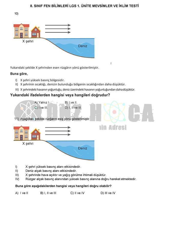 MEVSİMLERİN OLUŞUMU testi dnzhoca.com 8 660 933
